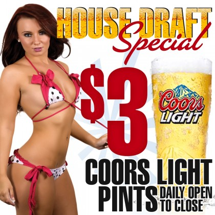 $3 Coors Light | Luckys Cabaret Strip Club Connecticut
