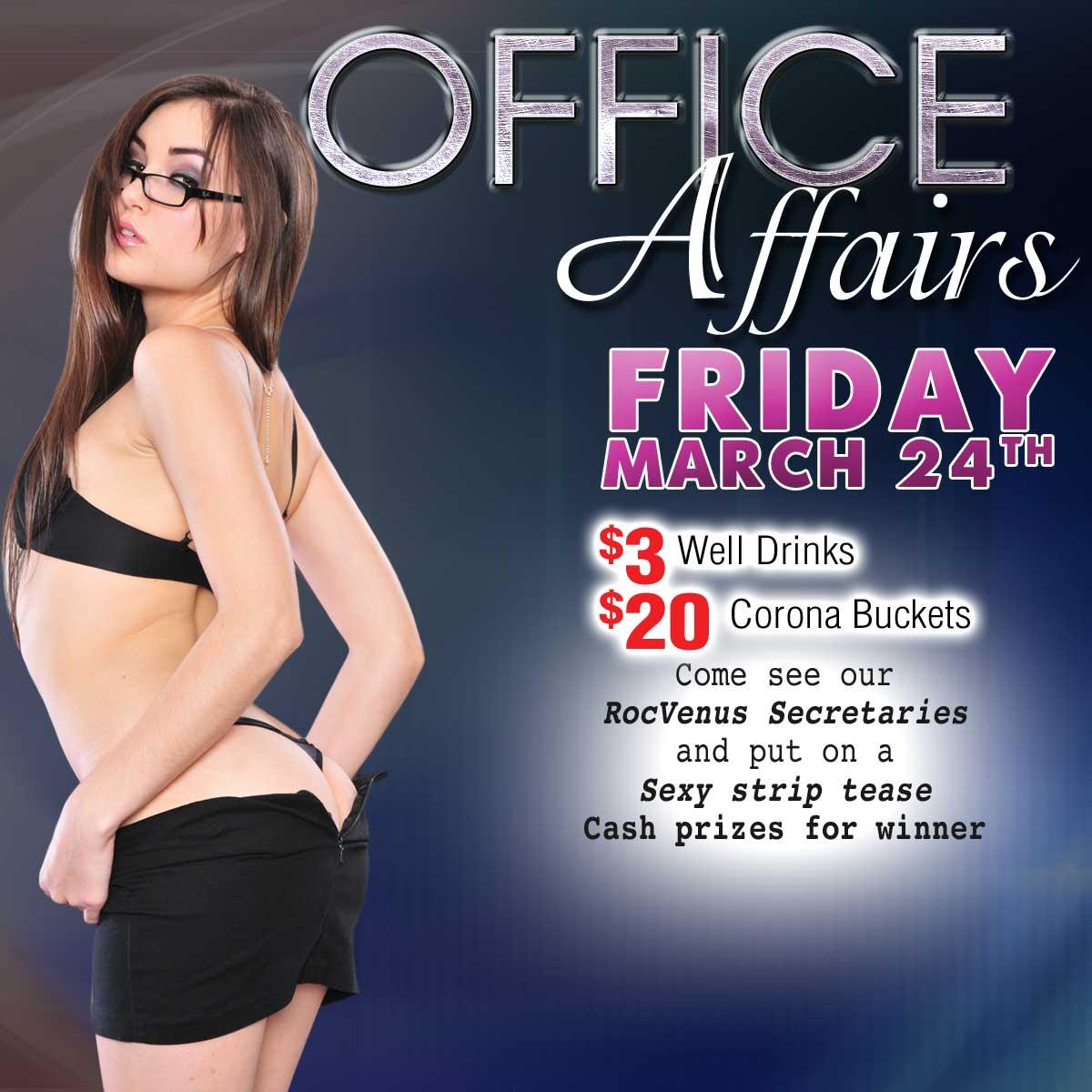 Office Affairs | RocVenus Strip Club Connecticut