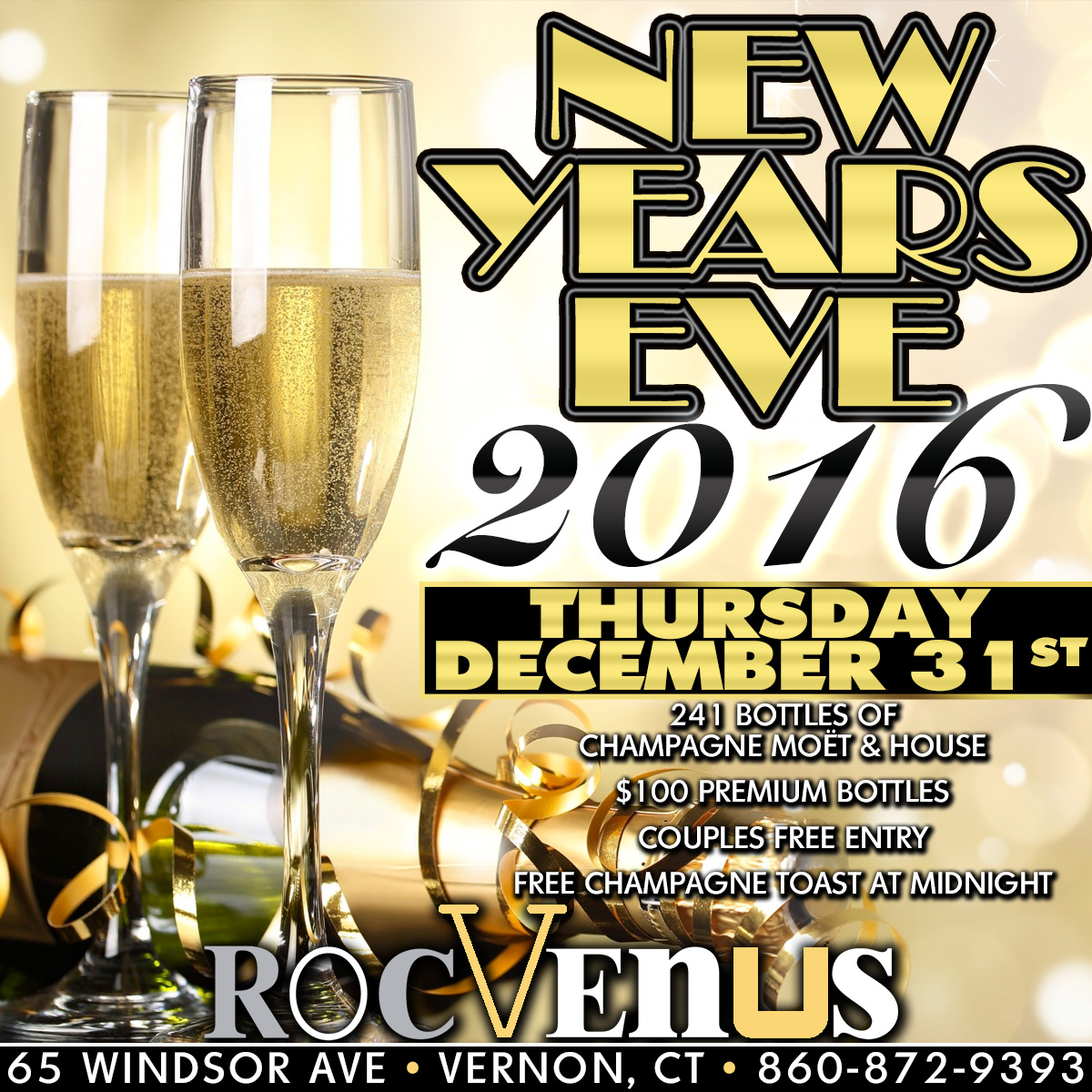 New Years Eve | RocVenus Strip Club Connecticut CT