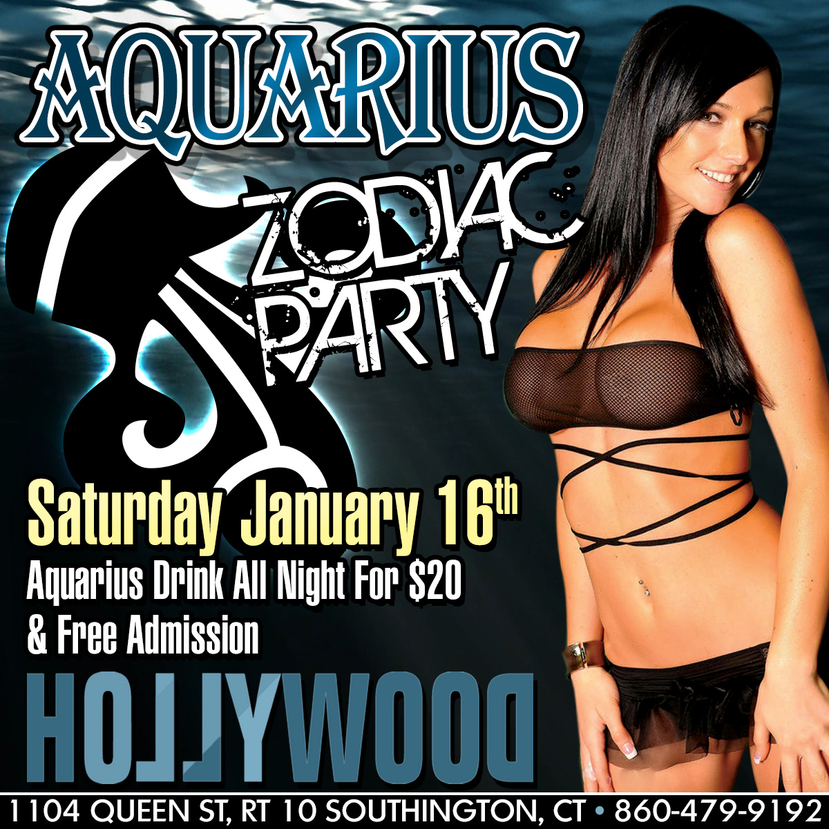 Aquarius Zodiac Party | Hollywood Strip Club Connecticut