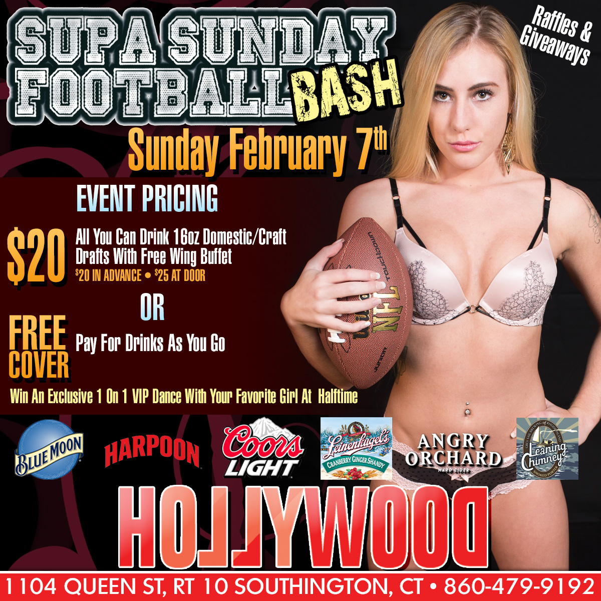 Supa Sunday Football Bash| Hollywood Strip Club Connecticut
