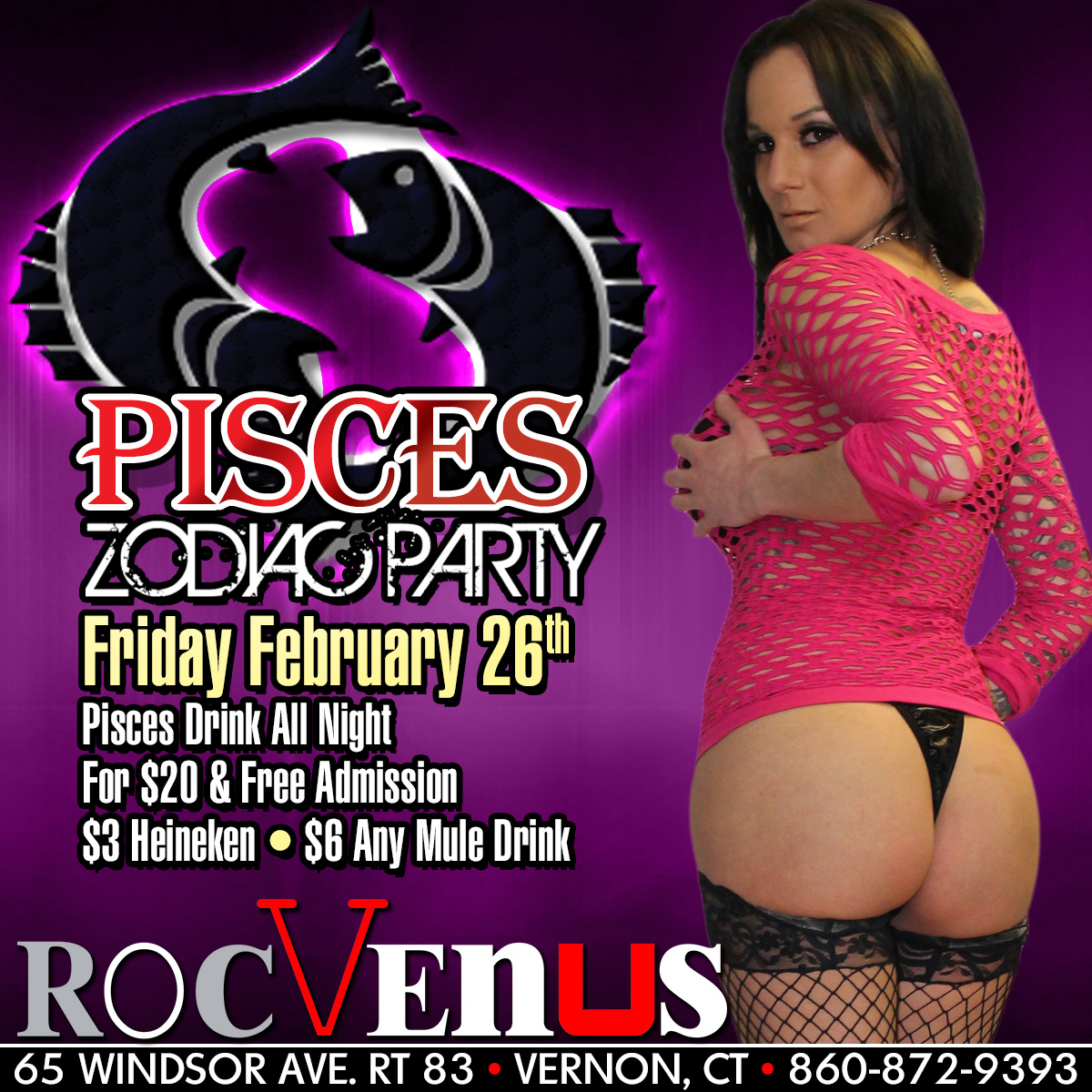 Pisces Zodiac Party | RocVenus Strip Club Connecticut