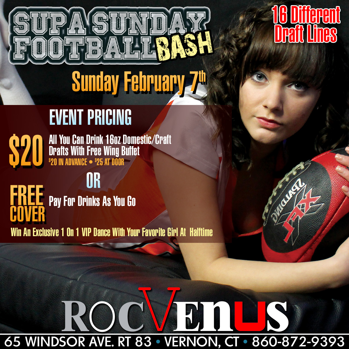Supa Sunday Football Bash| RocVenus Connecticut Strip Club