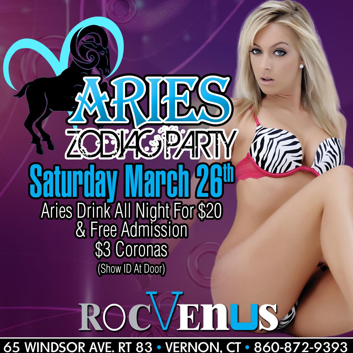 Aries Zodiac Party | RocVenus Strip Club Connecticut