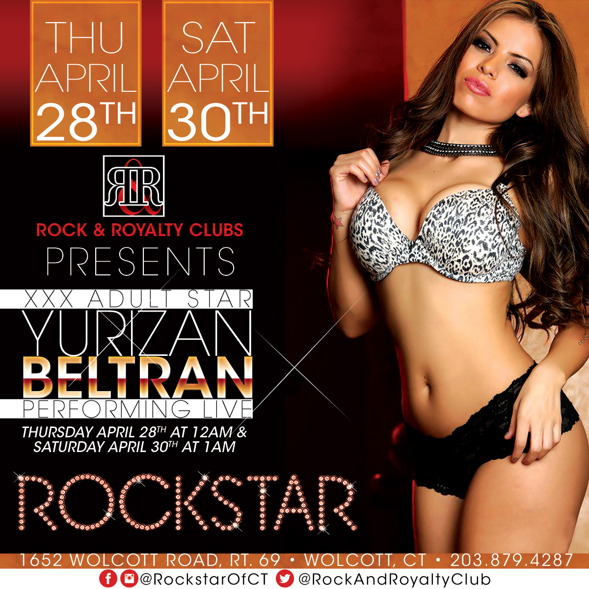 Porn Star Yurizan Beltran | Rockstar Strip Club Connecticut