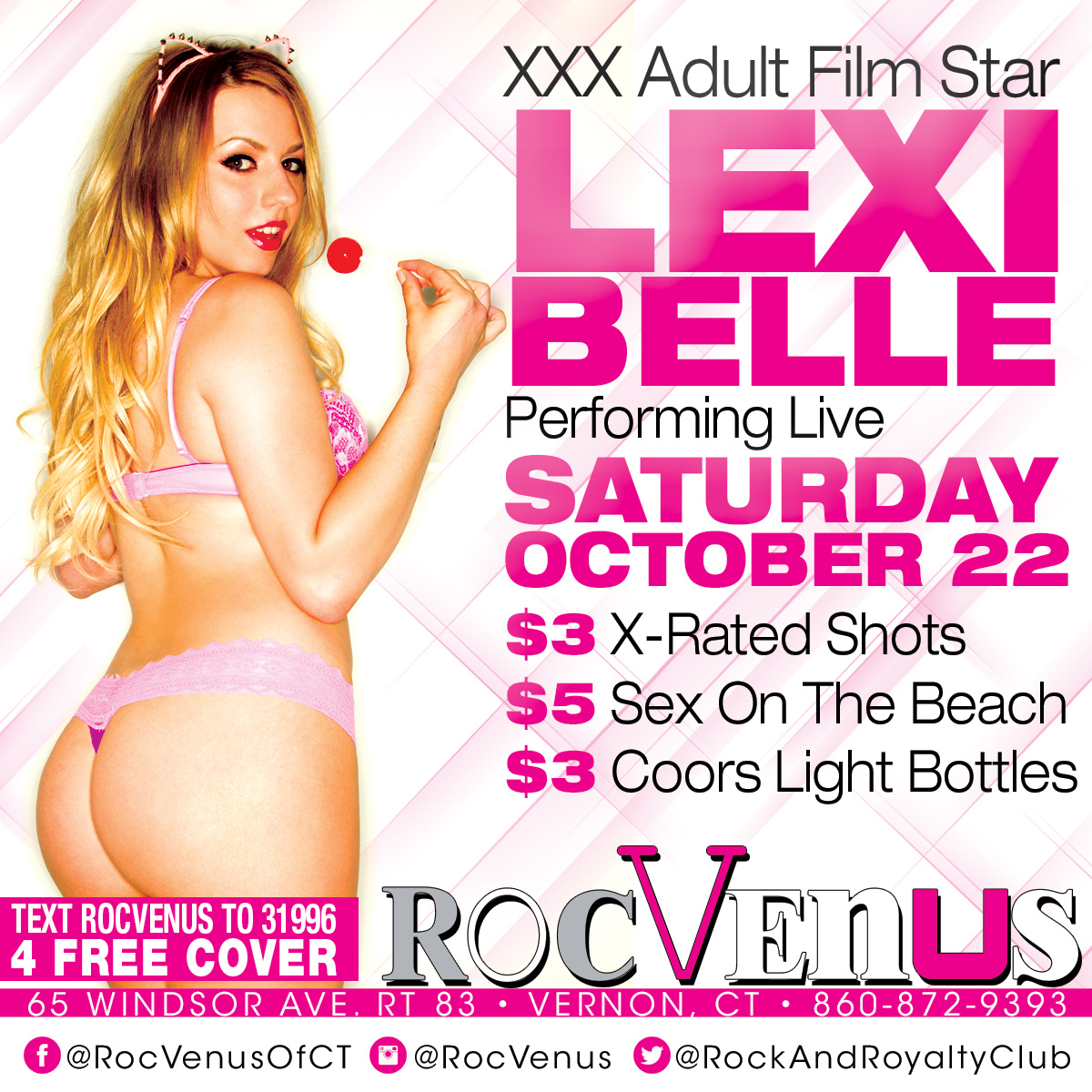 Porn Star Lexi Belle | RocVenus  Strip Club Connecticut