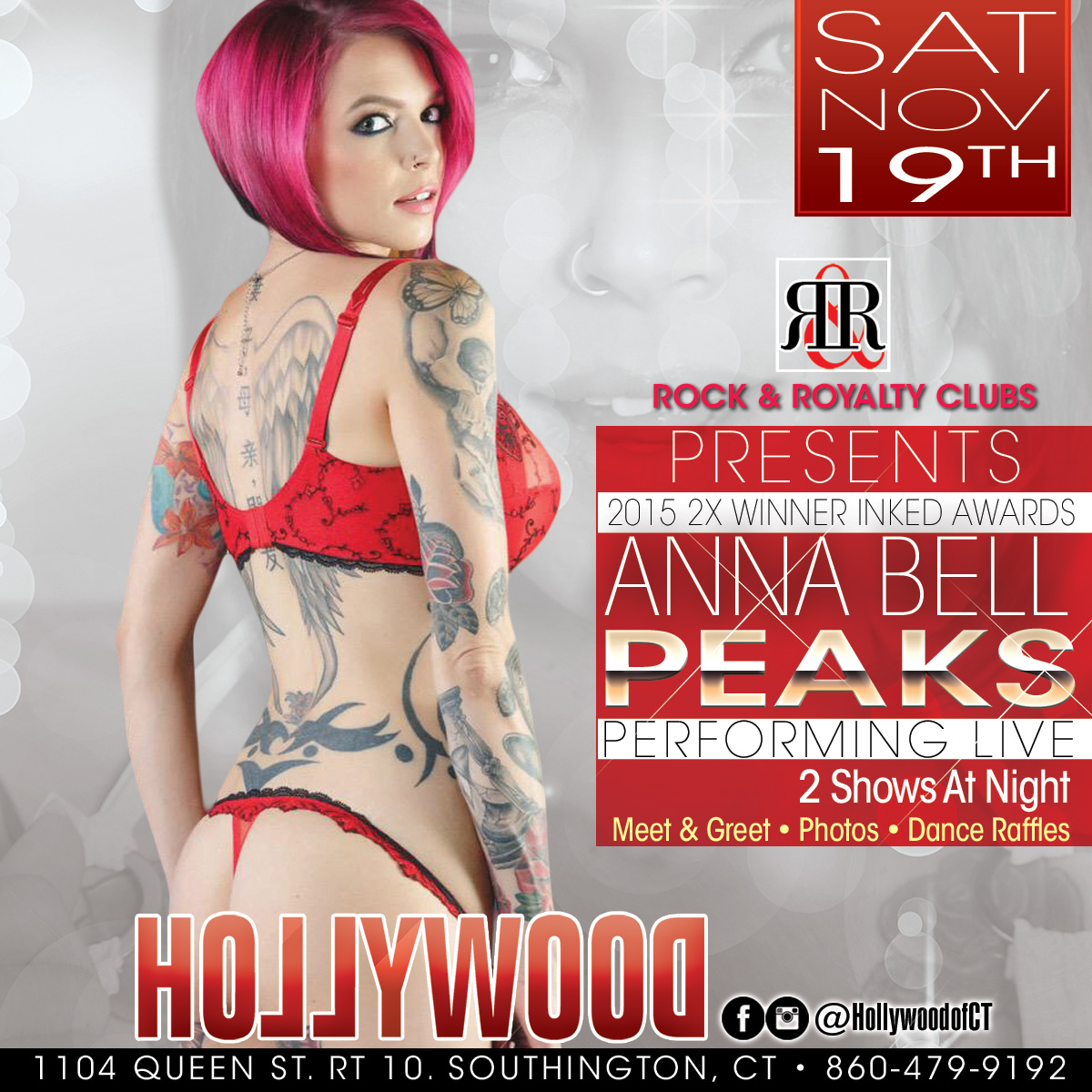 Porn Star Anna Bell Peaks | Hollywood  Strip Club Connecticut