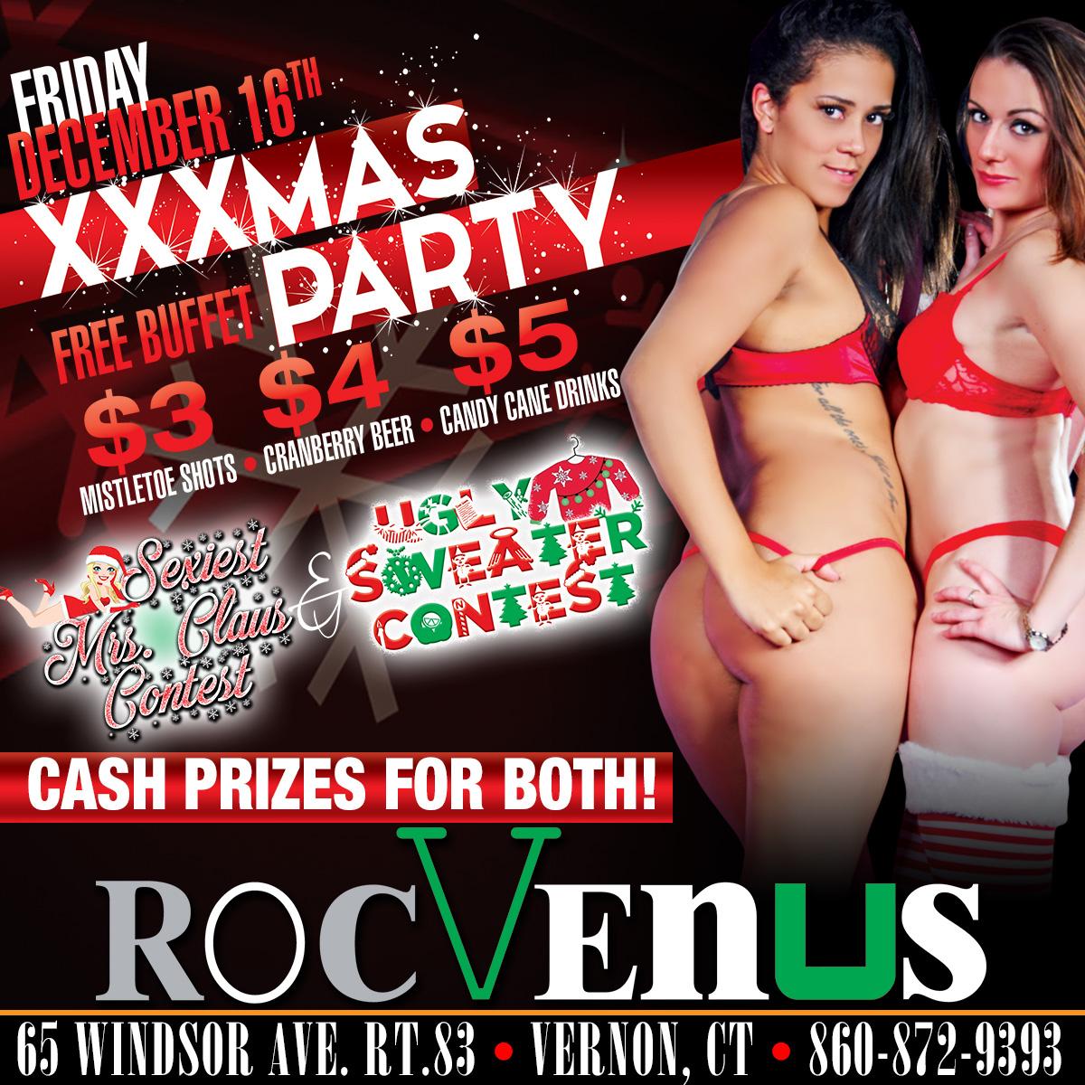 XXXMAS Party | RocVenus Strip Club Connecticut