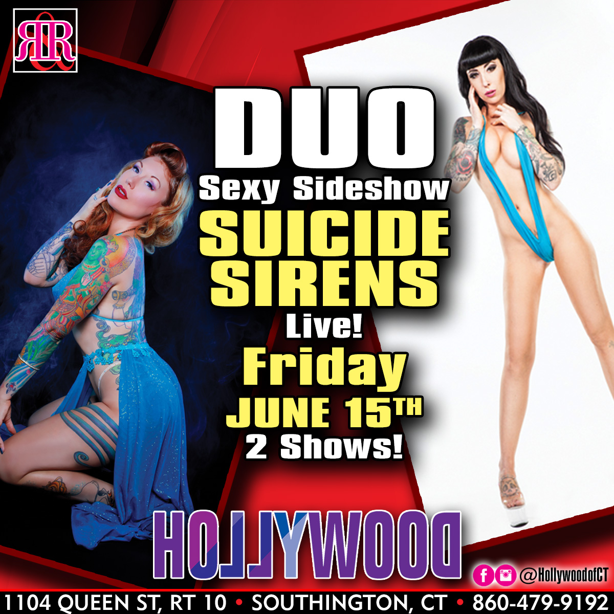 Sexy Sideshow Duo Suicide Sirens | Hollywood Strip Club Connecticut
