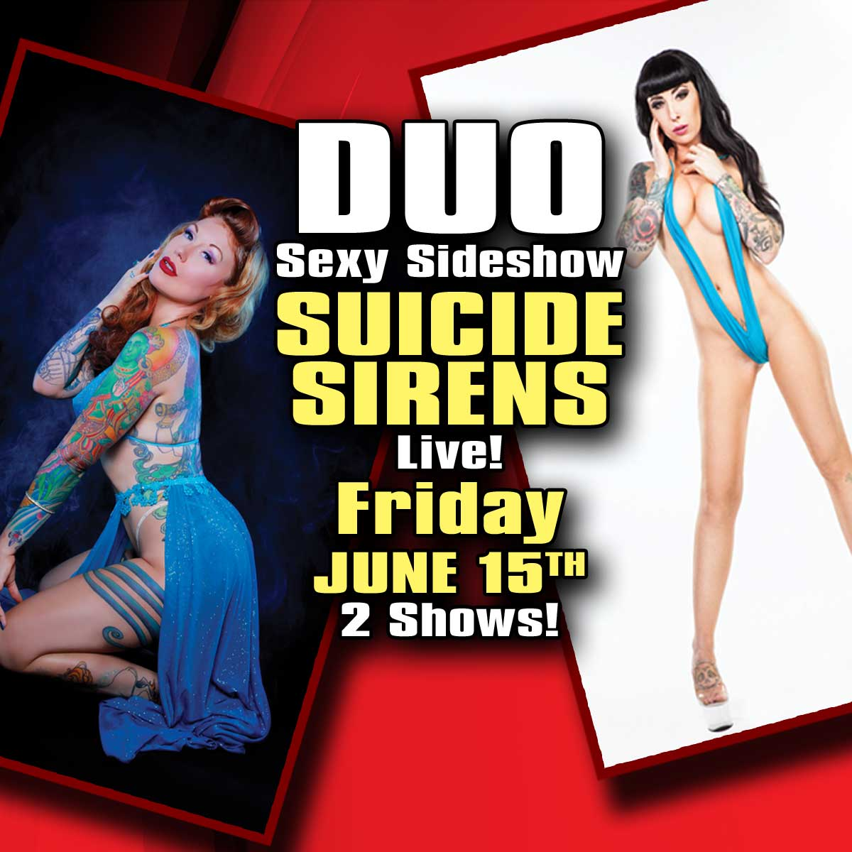 Sexy Duo Sideshow Suicide Sirens | Hollywood Strip Club Connecticut