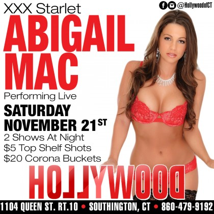 Porn Star Abigail Mac | Hollywood Strip Club Connecticut