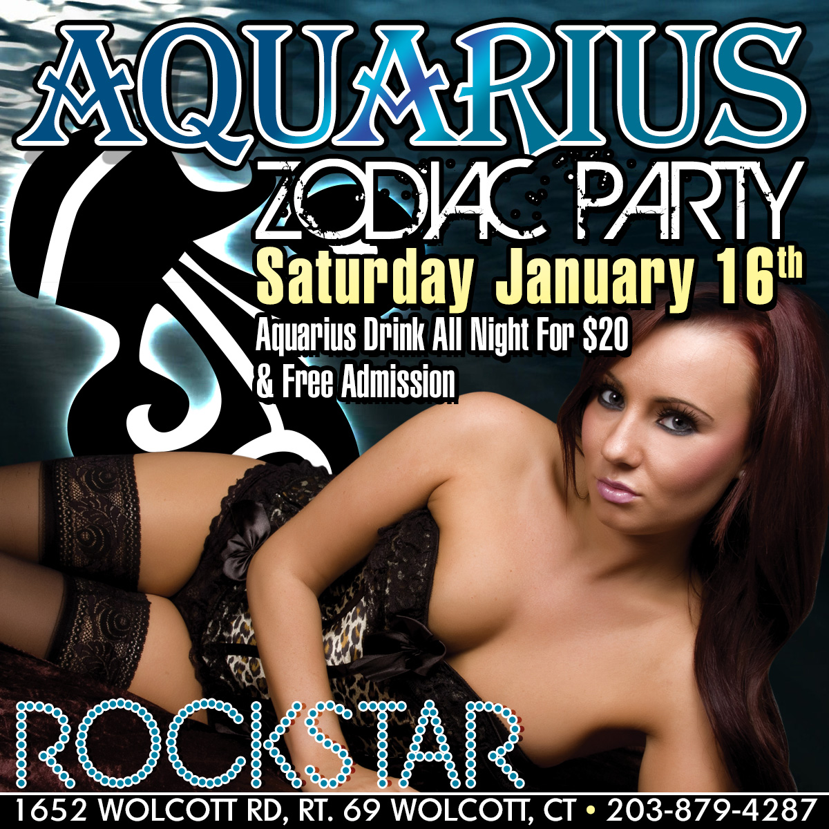 Aquarius Zodiac Party | Rockstar Strip Club Connecticut