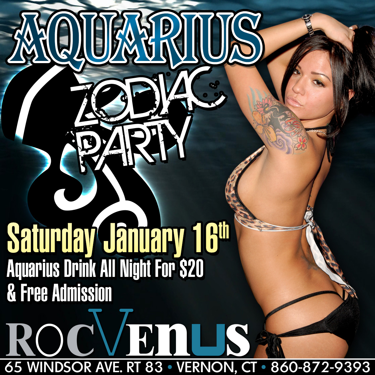 Aquarius Zodiac Party | RocVenus Strip Club Connecticut