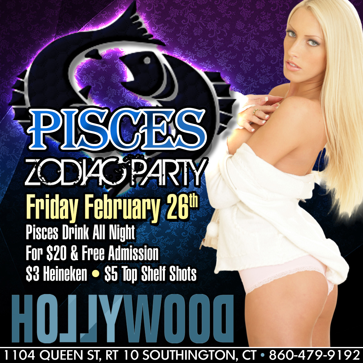 Pisces Zodiac Party | Hollywood Strip Club Connecticut