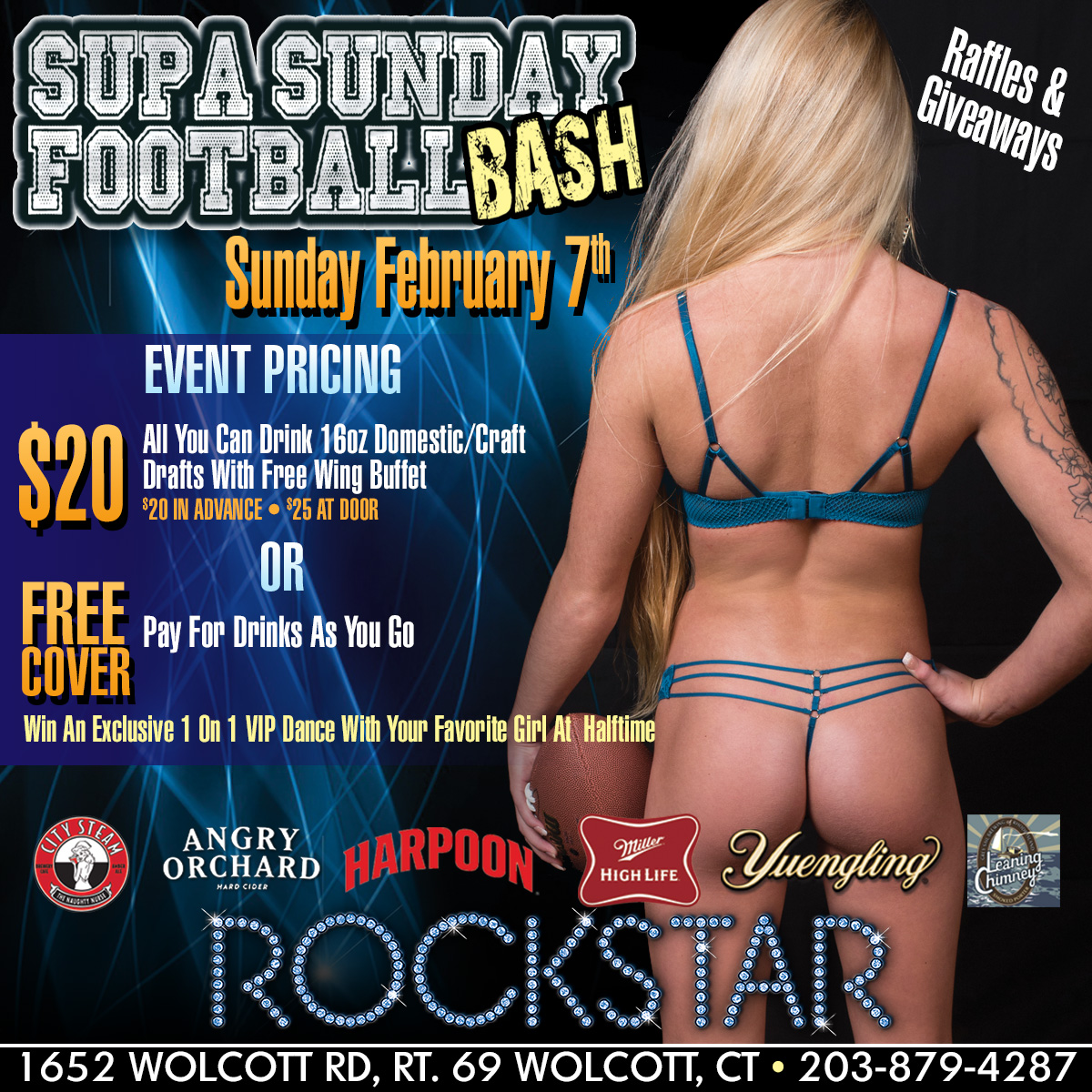 Supa Sunday Football Bash| Rockstar Strip Club Connecticut