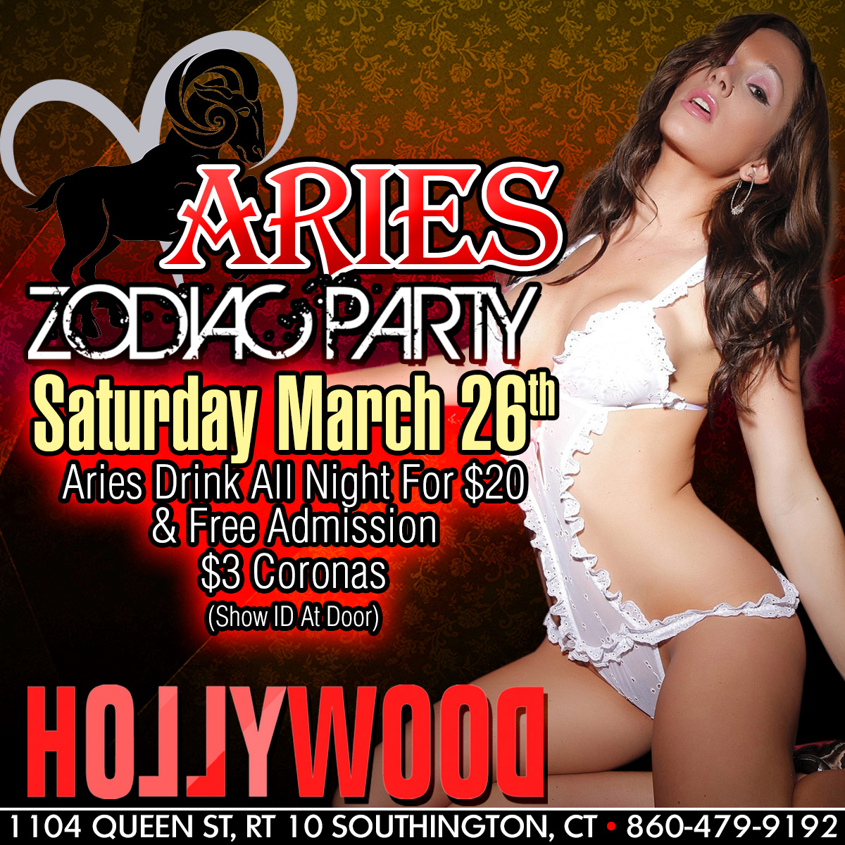 Aries Zodiac Party | Hollywood Strip Club Connecticut