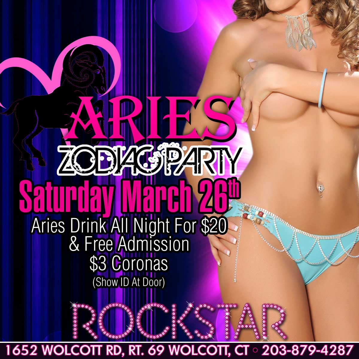 Aries Zodiac Party | Rockstar Strip Club Connecticut
