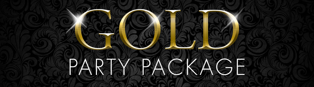 Gold Bachelor Party Package Rockstar