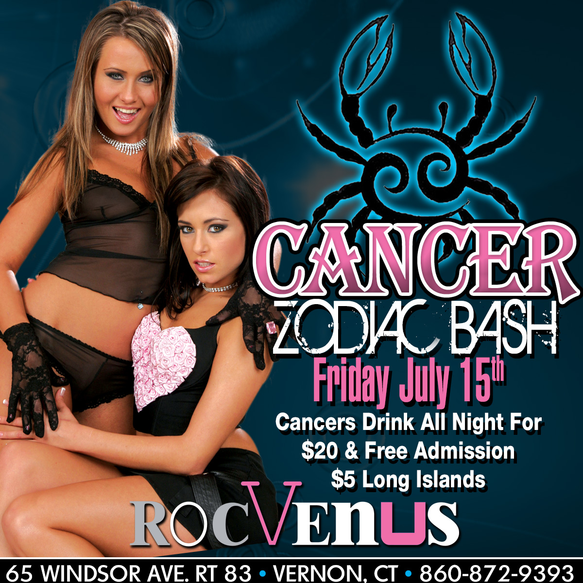 Cancer Zodiac Party | RocVenus Strip Club Connecticut