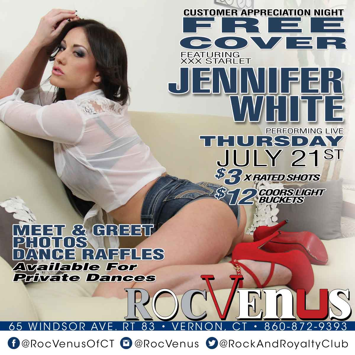 Porn Star Jennifer White | RocVenus Strip Club Connecticut