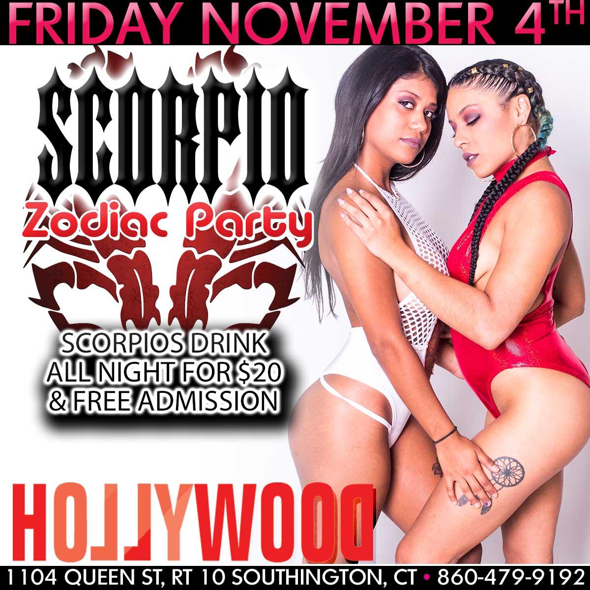 Scorpio Zodiac Party | Hollywood Strip Club Connecticut