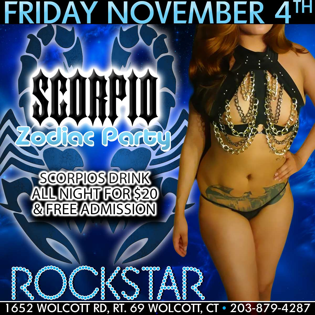 Scorpio Zodiac Party | Rockstar Strip Club Connecticut