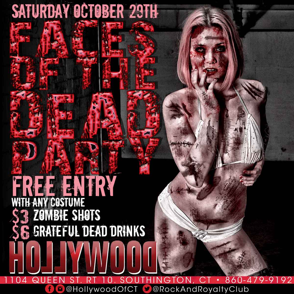 Faces Of The Dead Party | Hollywood Strip Club Connecticut