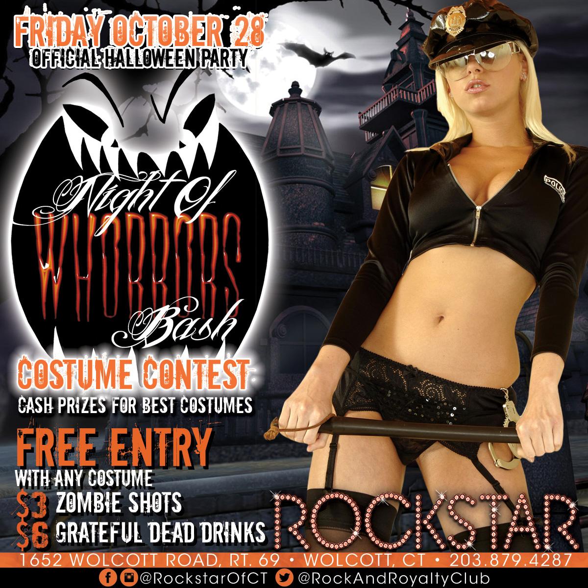 Night Of Whorrors Bash | Rockstar Strip Club Connecticut