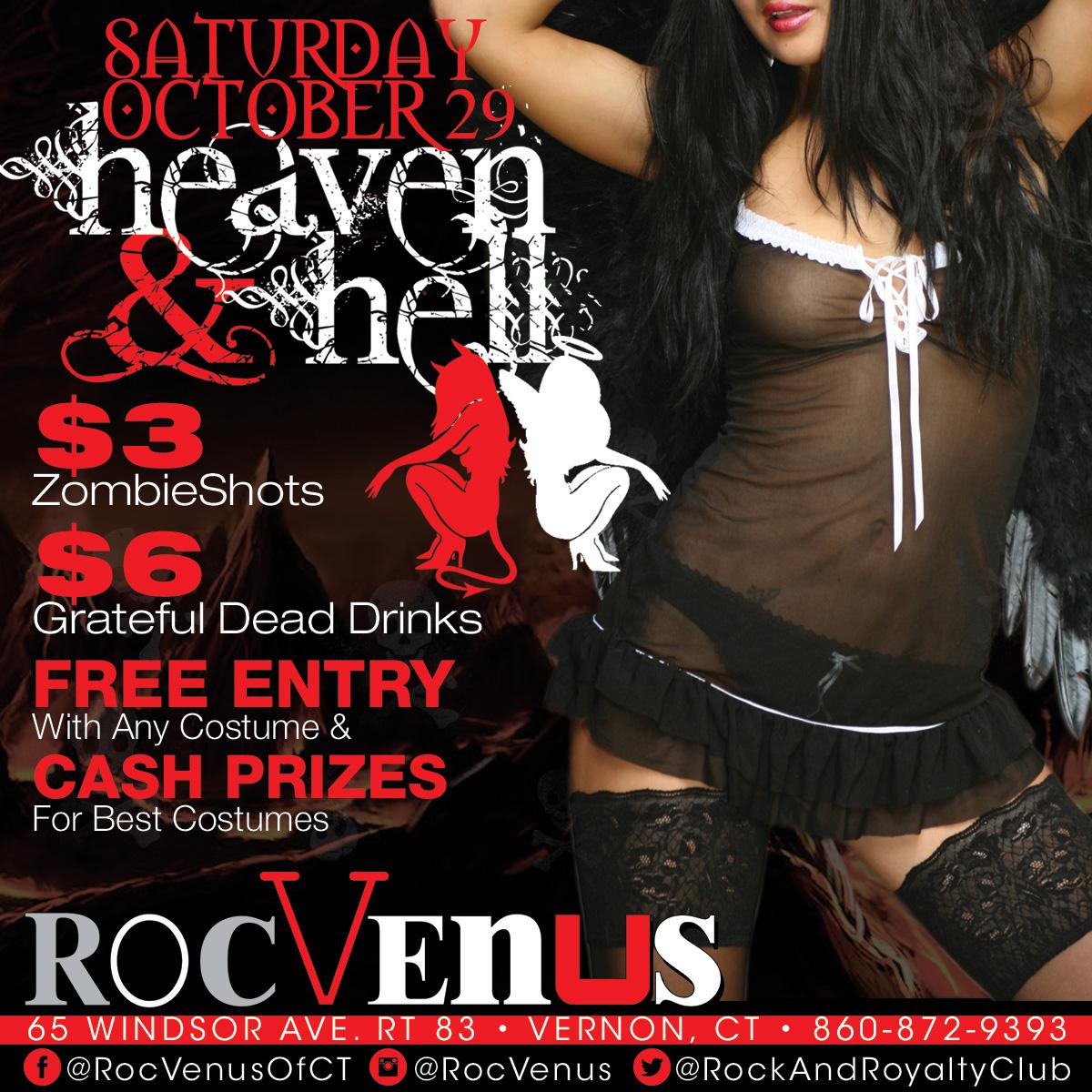 Heaven & Hell | RocVenus Strip Club Connecticut