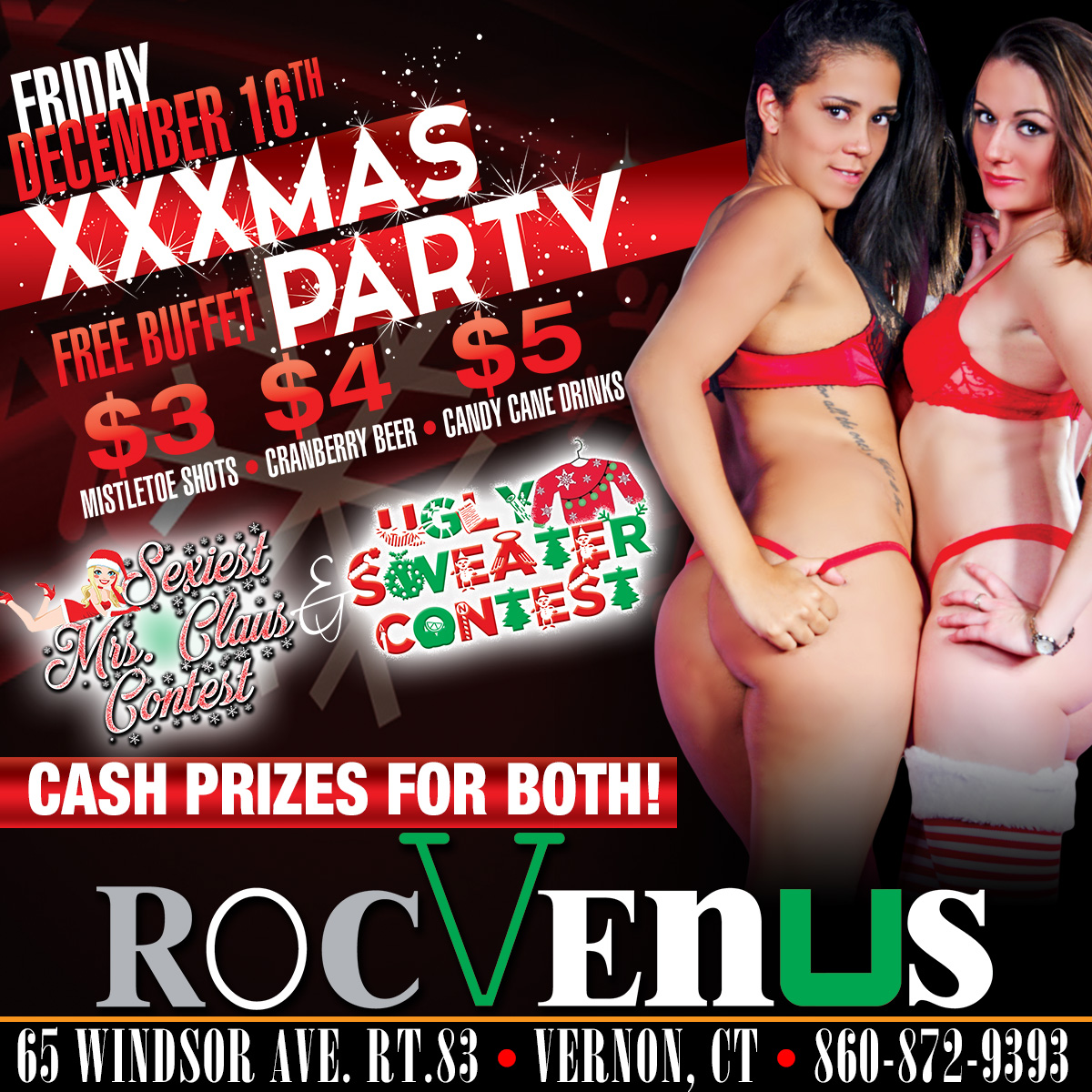 XXXMAS Party | RocVenus Strip Club Connecticut