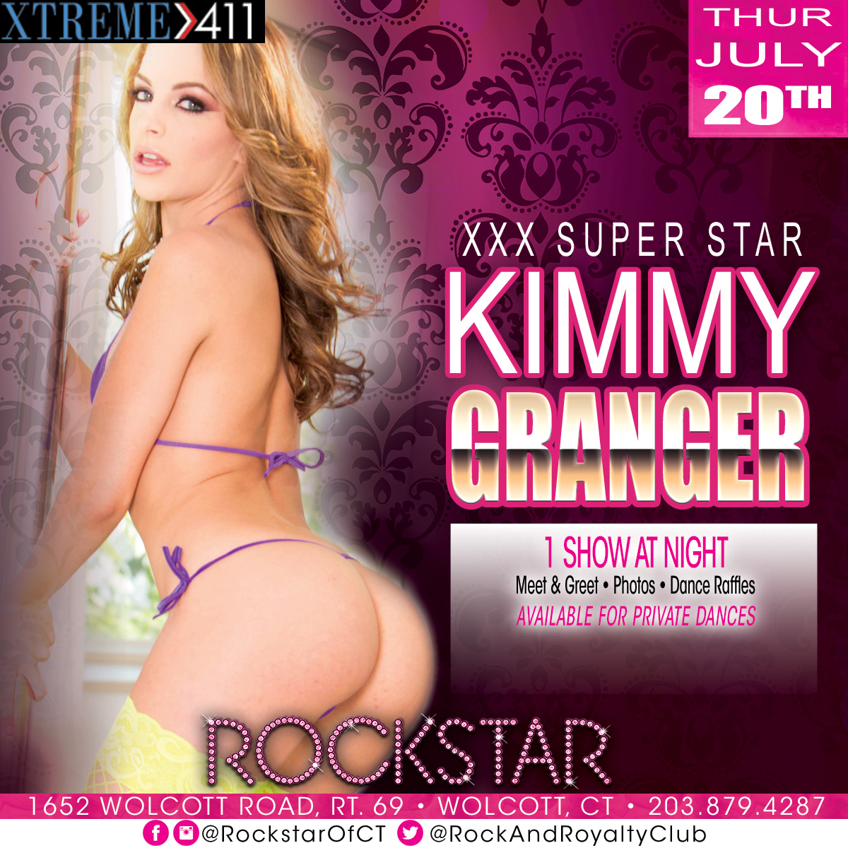 Porn Star Kimmy Granger | Rockstar Strip Club Connecticut