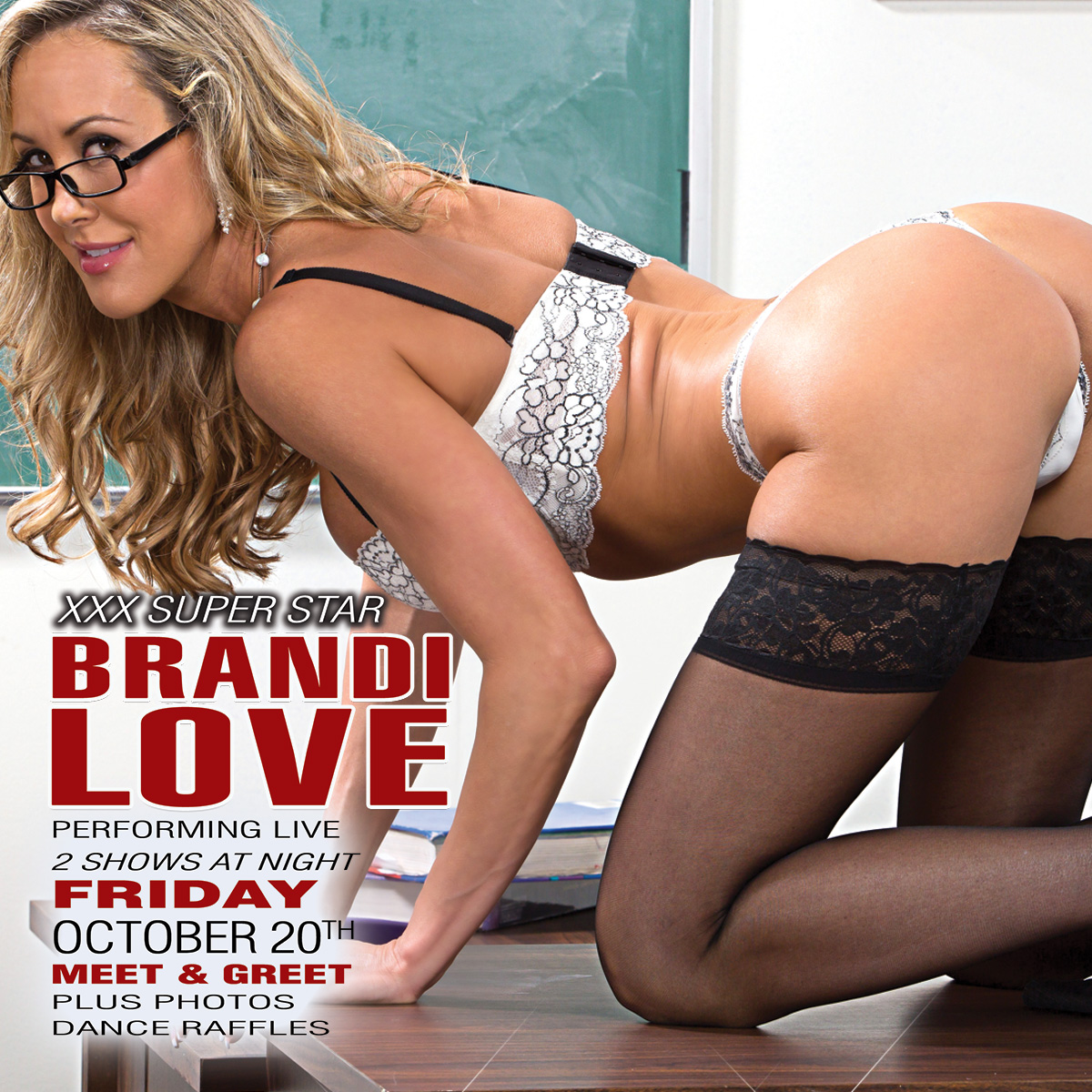 Brandi Love Oct 20th | Luckys Cabaret Strip Club Connecticut