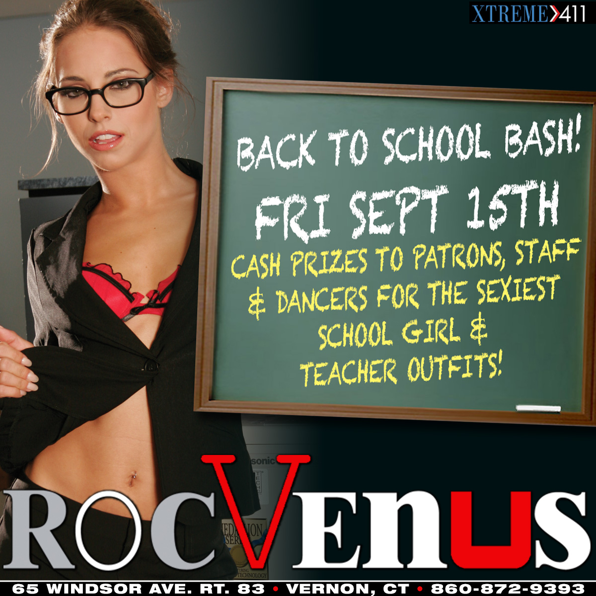 Back to School Bash| RocVenus Strip Club Connecticut