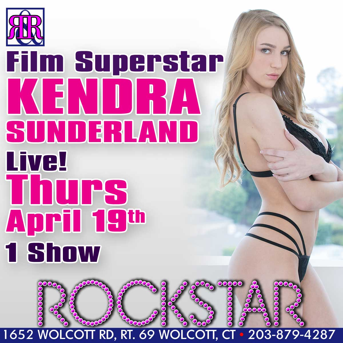 XXX Superstar Kendra Sunderland | Rockstar Strip Club Connecticut